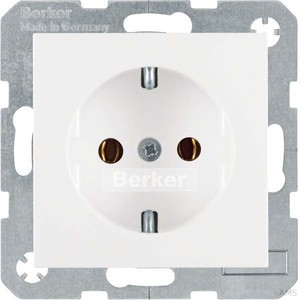 Berker 47438989 SCHUKO-Steckdose S. 1/B. 3/B. 7 Glas pwg