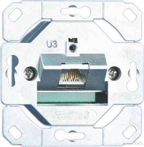 Metz Connect Anschlussdose,Kat.6 1xRJ45,Up0 TN E-DATC6-1Up0