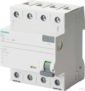 Siemens 5SV3344-6KL 3+N-pol. 30mA 400V 4TE N-links