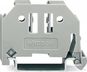 WAGO 249-116 ENDKLAMMER F. TS35 GRAU