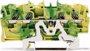 Wago 2001-1407 TOPJOB S 4L-PE-KL. 1,5QMM GR-GELB