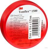 3M TEMFLEX 1500 25MX19M Isolierband Temflex  rot 19mmx25m