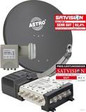 Astro 300191 Spiegel mit LNB und Multischalter 5/8