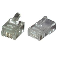 EFB-Elektronik Modular-Stecker RJ11 f.Flachkbl.,ungesch. 37511.1 (100 Stück)