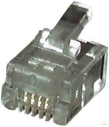EFB-Elektronik Modular-Stecker RJ12 f.Rundkbl.,ungesch. 37518.1 (100 Stück)