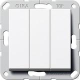 Gira 284403 Taster 3fach Schließer 1polig System 55