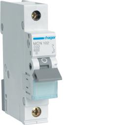 Hager MCN102 Sicherungsautomat 1P C-2A