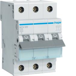 Hager MCN320 Sicherungsautomat 3P C-20A
