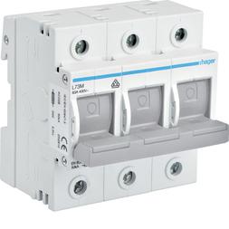 Hager SLT/D02/3 Schalter-Sicherungs-Einheit,D0,3-pol,63A