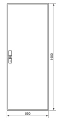 Hager ZB52S Zählerschrank,univ. Z,IP44,1400x550x205