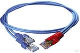 Homeway HCAHNG-B2103-A010 HW-Y-Kabel1 LAN/LAN bl/bl 1,0m