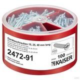 Kaiser 2472-91 Geräteschrauben-Box, je 100 Schrauben Ø