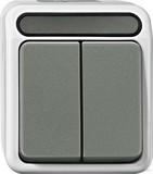 Merten MEG3115-8029 Serienschalter 1-polig g lichtgrau AQUASTA