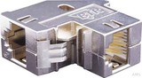 Metz Connect RJ45-Kupplung Cat.6 snap-in, 90Gr 1309A1-I