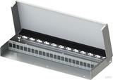 Telegärtner MPD24 Modulträger AP, leer, 1HE, rws H02025A0260