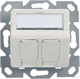 Telegärtner Modul-Aufnahme 2fach UP/50 aws aufbauend H02010A0083