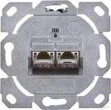 Telegärtner Modulaufnahme AMJ-S 2fach UP/0flex Cat6A T568A J00020A0510