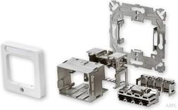 Tyco AMP/ADC Installations-Kit rws RAL9010 50x50mm 2-1711655-1